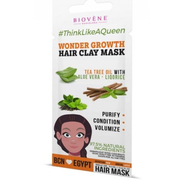 Biovene Barcelona Wonder Growth, Hair Clay Mask